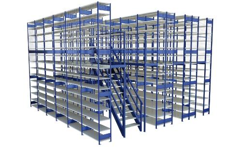 reolanlæg i flere etager